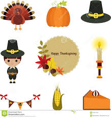 thanksgiving clip set stock vector image 45566886