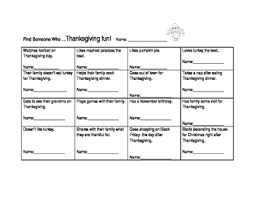 find someone who thanksgiving kagan class builder activity tpt
