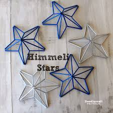 himmeli star garland black white u0026 gold made with wooden