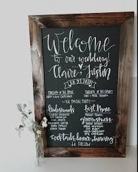 wedding program sign chalkboard wedding program signrustic wedding program