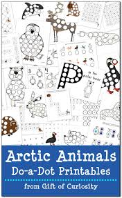 arctic animals do a dot printables free gift of curiosity