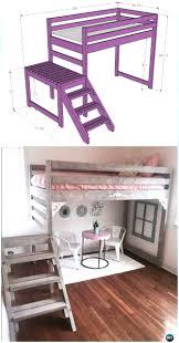 loft blueprints 25 diy bunk beds with plans guide patterns exceptional loft bed