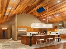 multi color wood ceiling recessed lighting modern fixture tile