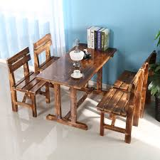 Outdoor Restaurant Chairs Hotels Outdoor Restaurant Tables And Chairs Carbonized Wood Tables