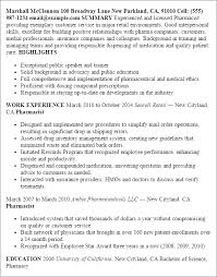Sample Resume Of Pharmacist by Professional Pharmacist Templates To Showcase Your Talent