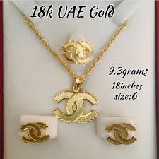 solid yellow gold necklace images Jewelry 18k solid yellow gold set pre order poshmark jpg