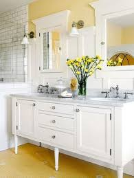 home tour yellow bathroom paint color butter by benjamin moore