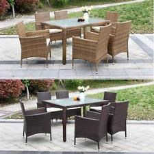 6 Seat Patio Dining Set Patio Furniture Dining Set Outdoor Garden Folding Table And Chairs