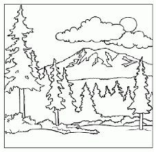 mountain coloring children coloring pages printable