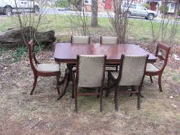 antique duncan phyfe dining table w 6 chairs