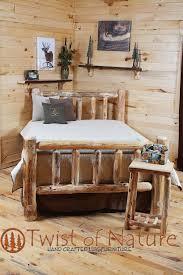 Standard Bedroom Furniture by Standard Log Bed Frame Kit Log Bedroom Furniture Twist Of Nature