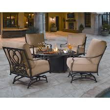 Gas Fire Pit Table And Chairs Gas Fire Pit Table Set Fire Pit Table Set In Tuscan Style