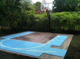 How To Build A Basketball Court In Backyard Cost Of Backyard Basketball Court Outdoor Goods