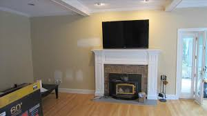 modern gas fireplace with tv above wpyninfo