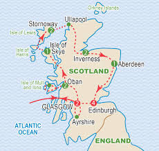 Map Of Glasgow Scotland Scotland August 2017 Craig Travel