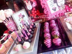 Chocolate Candy Buffet Ideas by Pink Minnie Mouse Themed Candy Buffet And Dessert Table From Www