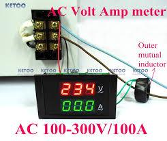 car led electrical ammeter voltmeter ampere digital voltage amp