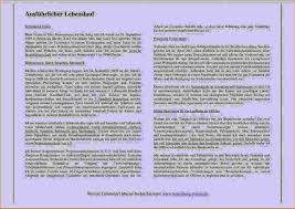 Lebenslauf Vorlage Tum Lebenslauf Ausformuliert Muster Anschreiben 2018