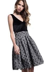 mini dress with polka dot skirt helmi e shop