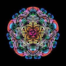 Lotus Flower With Om Symbol - mandala circle decorative spiritual indian symbol with om sign