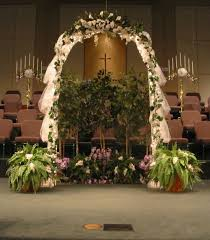Wedding Arches Using Tulle Indoor Wedding Arch