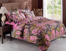 camo bedroom set 5pcs pink woods camouflage camo hunter bed in a bag comforter set w