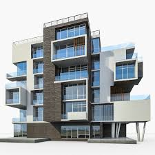 3d Apartment by Model Apartment House Building