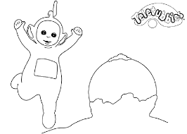 teletubbies coloring pages getcoloringpages