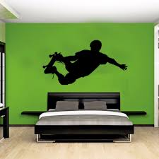 skateboarder silhouette street pop sport wall art sticker decal skateboarder silhouette street pop sport wall art sticker decal side kick stencil children kids bedroom decor