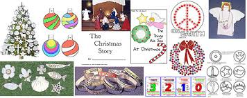 Preschool Holiday Crafts - kids christmas crafts activities and lessons