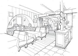 Interior Sketch by 73 Best Illustration Interior Images On Pinterest Drawings