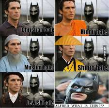Christian Bale Meme - christian bale respects all religions respect sports food and