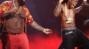 rick ross bares chest again at 2011 bet awards with attitude