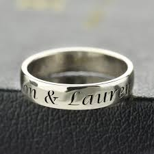 sterling silver engravable jewelry personalized message ring sterling silver engraved name message