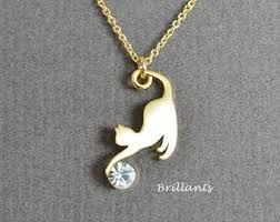 gold cat pendant necklace images Best 25 cat necklace ideas cat jewelry cat ring jpg