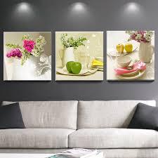 toile de cuisine 3 pcs toile peintures pour cuisine fruits décoration murale moderne