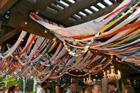 Colourful Ribbon Canopy Wedding Reception by Ribbon Canopy With Lights Summer Ideas Pinterest Canopy