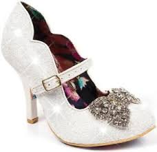 shimmer lights purple shoo irregular choice shimmer women s ivory light up high heel bridal