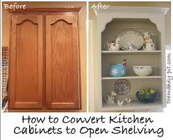 Tutorial Turning Cabinets Into Custom Shelves Custom Shelving - Kitchen cabinet without doors