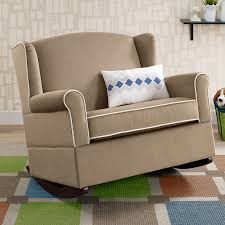 Chair And A Half Rocker Recliner Baby Relax Lainey Wingback Chair And A Half Rocker Hayneedle