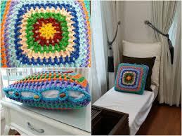 diy room decoration crochet granny square cushion cover home