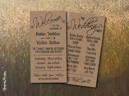wedding programs rustic kraft wedding program printable rustic wedding program template