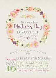 s day brunch invitation 5x7 floral s day brunch invitation card