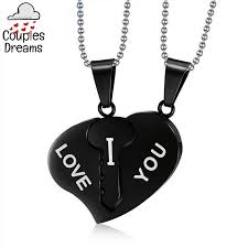 heart couple necklace images Key to my heart couple necklace couples dreams jpg