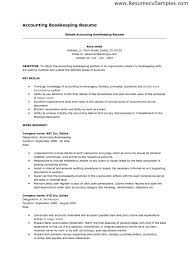 example full charge bookkeeper resume free sample bookkeeper
