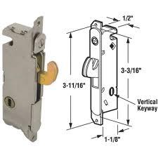 Patio Door Handle With Lock Slide Co Sliding Patio Door Vertical Mortise Lock 15410 Do It Best