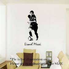 Wall Art Stickers And Decals by W123 Lionel Messi Barcelona Football Sport Wall Art Stickers Decal