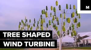 this nature inspired wind turbine is shaped like a tree
