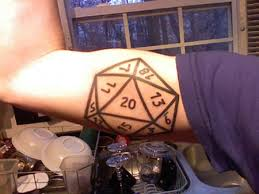 wicked 20 sided die tattoo plus bonus geekologie