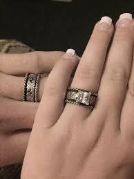 silver engagement ring gold wedding band with these rings stunning western wedding rings hyo silver